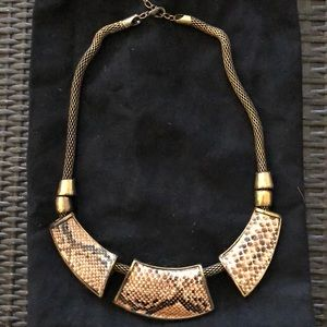 Jewelry - Gold Snake print necklace